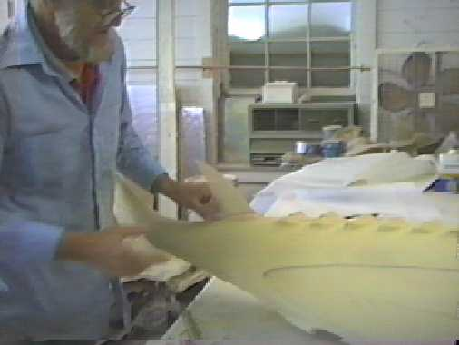 Durand working on Sturgeon foam model