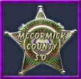 MCCORMICK SHERIFF'S DEPT BADGE