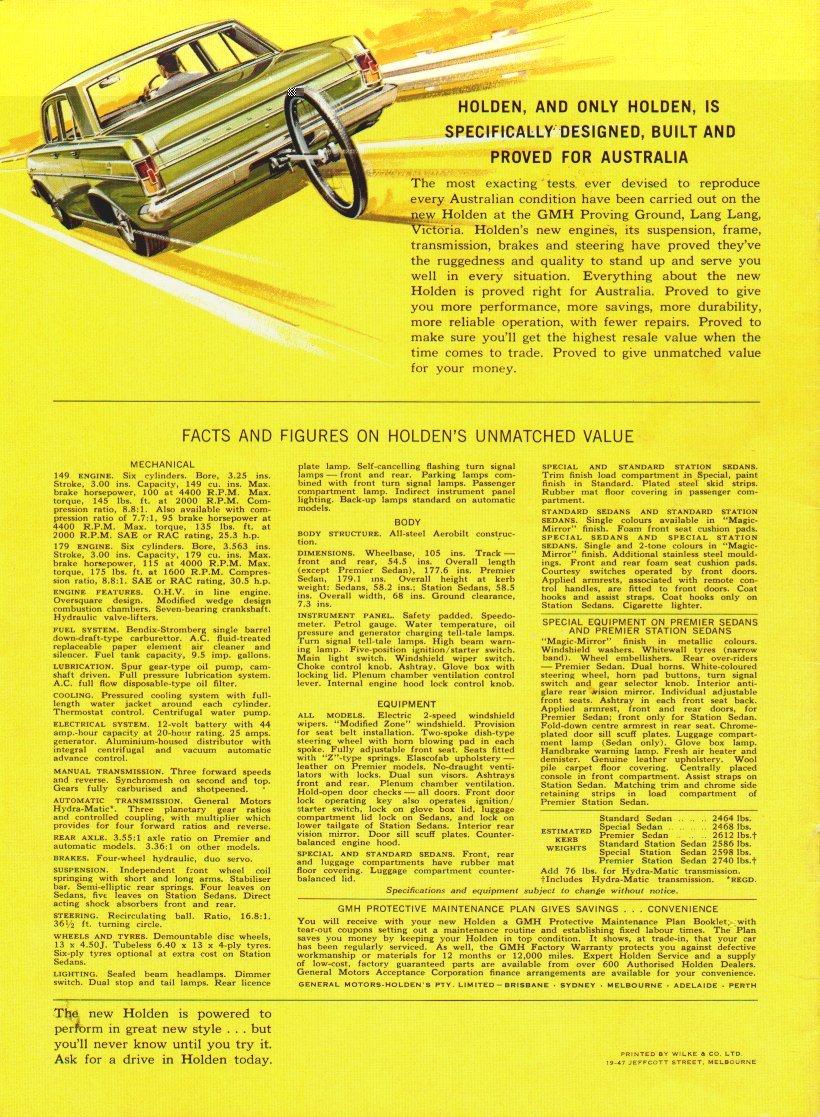 EH Holden Sales Brochure