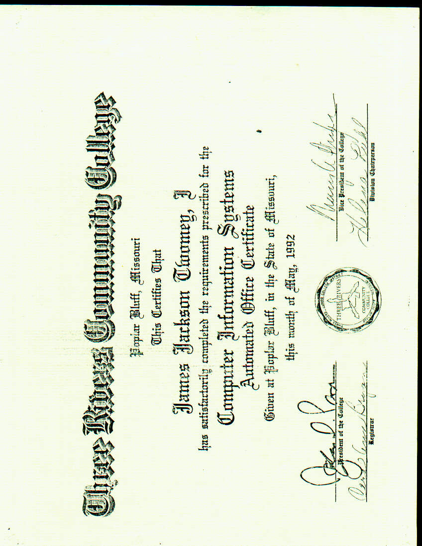 College associates applied science in business management certificate for being signed up with intertech inc xflitez Gallery